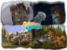 Kate and Humphrey <3 and Lilly and Garth <3 in Alpha and Omega 1 and 2