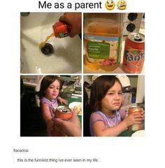 I honestly do this to my daughter with water. It doesn't fool her either. Hah