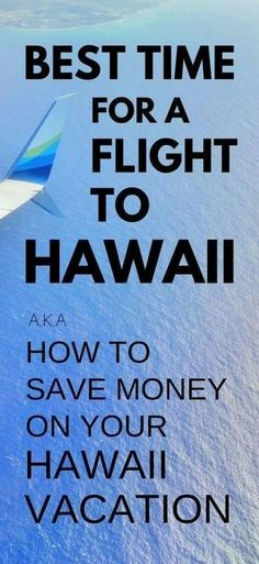 Best time for flight to visit Hawaii How to find cheap flights. How to save mone… Best time for flight to visit Hawaii How to find cheap flights. How to save money on Hawaii vacation. Hawaii on a budget. Fly To Hawaii, Visit Hawaii, Hawaii Vacation, Beach Trip, Vacation Trips, Dream Vacations, Vacation Ideas, Hawaii Life, Hawaii Beach