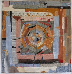 Helen Geglio, 2015 A History of Toil: Homespun. Cotton, linen, hand embroidered and stitched