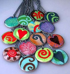 Lorrie DiCesare // Enamel jewelry // Hourglass Gift Shop // Melrose, MA