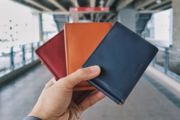 """For the longest time, magicians have been searching for the """"perfect"""" wallet. Card to Wallet by Quiver is a stylish, functional, and modern design wallet is can be used as everyday wallet and ready to perform in any second. Secret Compartment, Quiver, Vegetable Tanned Leather, Natural Leather, The Magicians, Two By Two, Wallet, Christmas, Cards"""