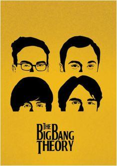 Poster The Big Bang Theory (Minimalista) | Zé Caneca