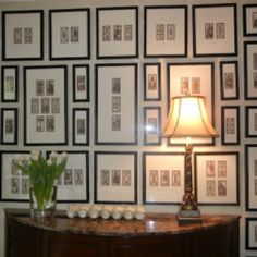 Framed Tarot cards.  Beautiful display for a reading room!