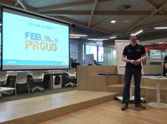 2015 JCI UK National President Drew explaining his plan of action. What do we do to make us feel proud?