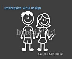 Stick Family Custom Vinyl Decal Sticker By Impressivevinyldsign - Custom vinyl decals for laptop