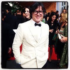 Billy Reid at the CFDA Awards (Menswear Designer of the Year!)