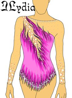 Competition Rhythmic gymnastic leotard design Kaat