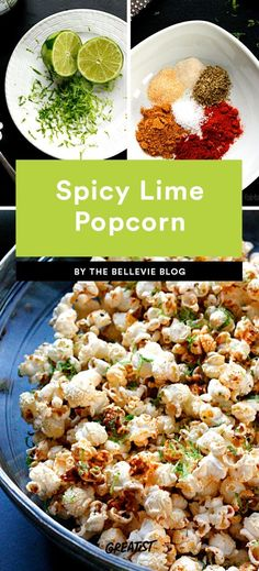 Popcorn Recipes That Turn a Plain Bag Into a Solid Snack Popcorn Salad, Spicy Popcorn, Homemade Popcorn, Popcorn Recipes, Lunch Recipes, Salad Recipes, Healthy Recipes, Flavored Popcorn, Ham Recipes