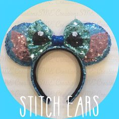 Stitch Minnie Ears by yosabrinamarie on Etsy https://www.etsy.com/listing/236169805/stitch-minnie-ears