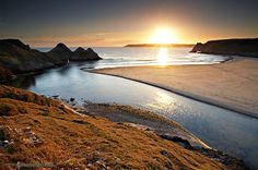 Three Cliffs Bay, Gower Peninsula, South Wales