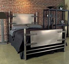 #Industrial DIY metal headboard and frame