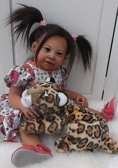 Oriental Toddler  Reborn Girl Ethnic Thai Asian Doll Kimi by Jannie de Lange