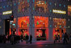 Louis Vuitton Flagship Store Window Display: Stephen Sprouse's Rose Print, via Flickr.