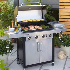 A gas, charcoal or electric grill lets you prepare easy outdoor meals on your deck or patio. Pair it with a compact smoker to take your outdoor cooking to the next level. Ready to step into the master griller category? Add the right cooking accessories and tackle breakfast, lunch or dinner with ease.