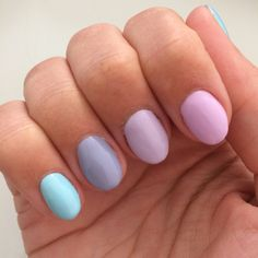 Pastel nails, perfect for spring