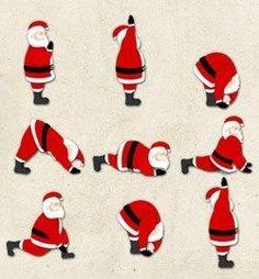 Santa does yoga too! #santa #yoga re-pinned by www.globalgroovelife.com