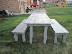 Patio table from old fence boards