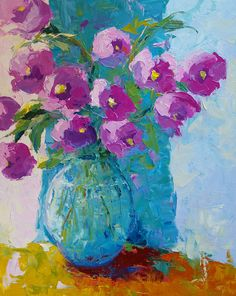 """Purple Bouquet,"" oil painting by Cynthia Reid. (Doylestown Fine Art Gallery – Rich Timmons Studio)"
