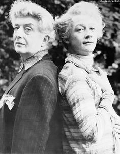 Quentin Crisp  played by John Hurt (right) in 'The Naked Civil Servant'. I laughed so much at this. A wonderful and very touching movie, even better that it's a true story.
