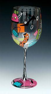 Fun Shopaholic Wine Glass