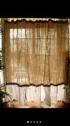 burlap curtains sewing addict