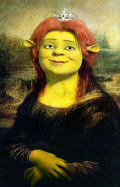 Fiona Lisa [Andrew SS] (Gioconda / Mona Lisa It's just so wrong! Mona Lisa Portrait, Don Meme, Mona Friends, Classical Art Memes, La Madone, Mona Lisa Parody, Mona Lisa Smile, Frida Art, Famous Artwork