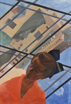 Leonid Terentevich Chupyatov (1890-1942), Портрет с архитектурным пейзажем / Portrait with an architectural landscape, 1922