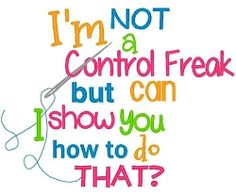 Control Freak - 3 Sizes! | Words and Phrases | Machine Embroidery Designs | SWAKembroidery.com Band to Bow