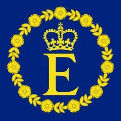 89cd2122ee Personal flag of Queen Elizabeth II. Bandeiras Do Mundo