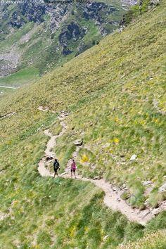 Retkeilyä vuoristossa - polku retkeily patikointi rinne vuoristo kesä Andorra…