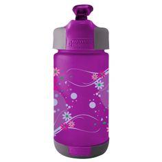 Nathan 0.3 tritan plastic kids bottle - purple flowers