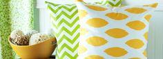 Lemon & Lime {love these pillows}