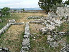 Restes del buleuteri de Palazzolo Acreide.