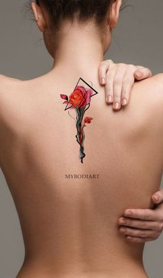 Dolores Red Watercolor Linework Neo Traditional Rose Temporary Tattoo Dolores Red Watercolor Linework Neo Traditional Rose Temporary Tattoo MyBodiArt mybodiartinc Tattoo Ideas Linework Watercolor Red Rose Back Tattoo Ideas nbsp hellip Delicate Flower Tattoo, Flower Tattoo Back, Small Flower Tattoos, Small Tattoos For Guys, Flower Tattoo Designs, Tattoo Designs For Women, Sunflower Tattoo Sleeve, Sunflower Tattoo Shoulder, Sunflower Tattoo Small