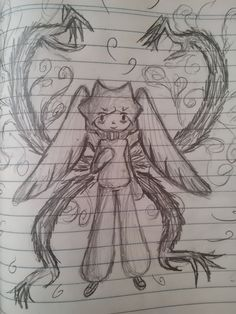 Angel with demons power