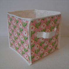 Make your own storage cube. Awesome for sewing room out of favorite fabric!