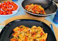 Medvehagymás-tojásos sült paprika | Andrea von Sattler receptjeCookpad receptek