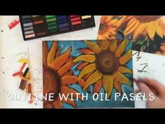 Chalk Sunflower Art project for Kids - YouTube