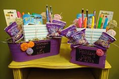 College student gift basket basket ideas college and students cute gift for a new college student um and i love this blog negle Choice Image