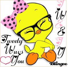 sends u also hello! Cartoon Pics, Cute Cartoon, Cartoon Characters, Happy Birthday To You, Tweety Bird Quotes, Sylvester The Cat, Bird Coloring Pages, Cute Messages, Favorite Cartoon Character