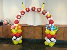 Pokémon Deco Pokemon Balloons, Balloon Face, Center Pieces, Balloon Decorations, Babyshower, Birthday Parties, Party Ideas, Projects, Inspiration