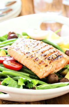 Grilled salmon nicoise - Low FODMAP  and gluten free recipes - #lowfodmaprecipes #lowfodmap #glutenfree #glutenfreerecipes