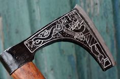 Axe engraving-other side 1 by Dewfooter.deviantart.com on @DeviantArt