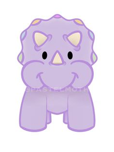 Cute pastel triceratops illustration available as a range of products on Etsy Girl Dinosaur, Dinosaur Art, Kindness Rocks, Free Stickers, Kawaii Cute, Cute Illustration, Color Themes, Gender Reveal, Pastel Colors