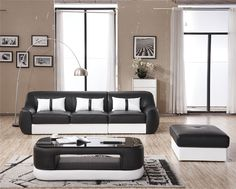 Modern Leather Sofa, Sofas, Couch, Furniture, Home Decor, Couches, Settee, Decoration Home, Canapes