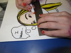 7th grade art students are creating Pop Art drawings focusing on the style of artist, Roy Lichtenstein. We started by taking digital images of each student and making a graphite transfer. Since my ...