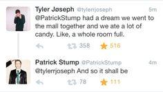 TYLER JOSEPH AND PATRICK STUMP okay im done