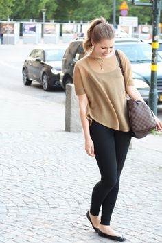 Happy days: Outfit from Stockholm