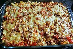 Farmer's casserole from Zauberfee Meatball Recipes, Pork Recipes, Crockpot Recipes, Vegetarian Recipes, Chicken Recipes, Healthy Recipes, Healthy Eating Tips, Easy Casserole Recipes, Easy Dinner Recipes